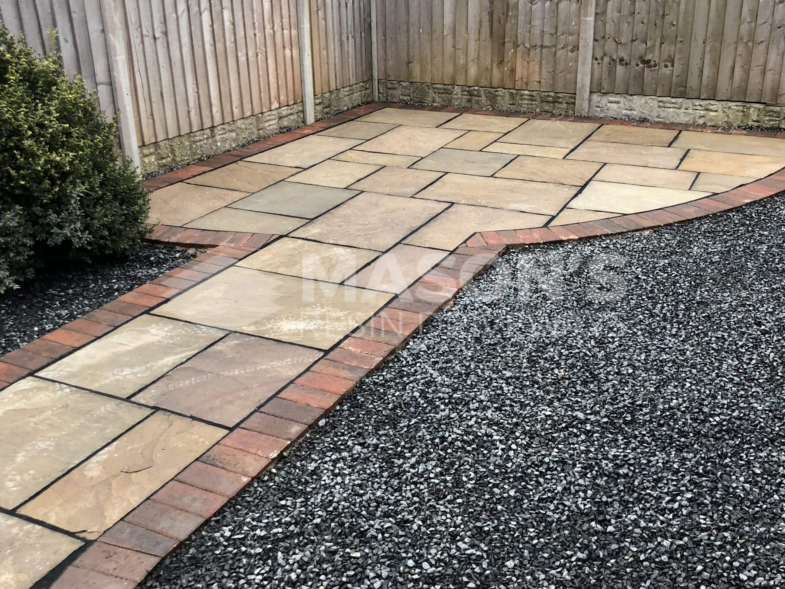 Indian Sandstone view of Tarmac Driveway in Preston, Lancashire