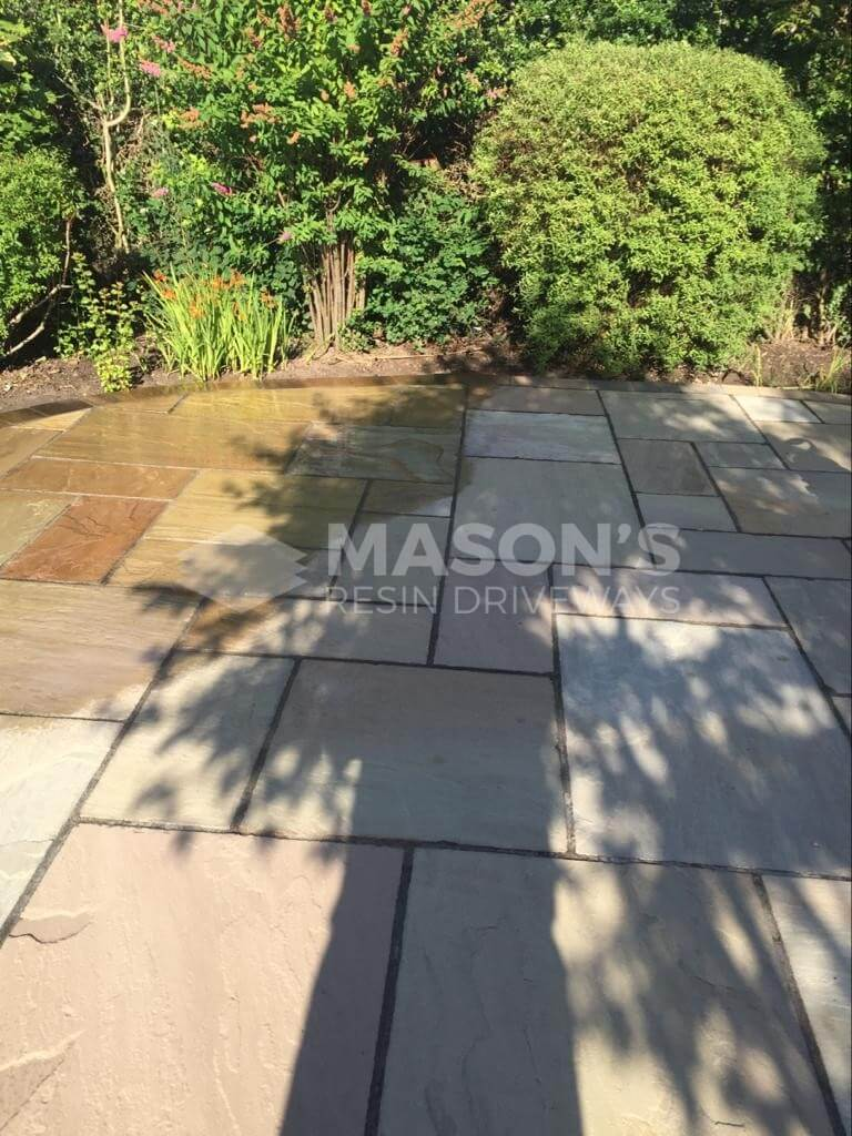 clean power washing driveway in preston
