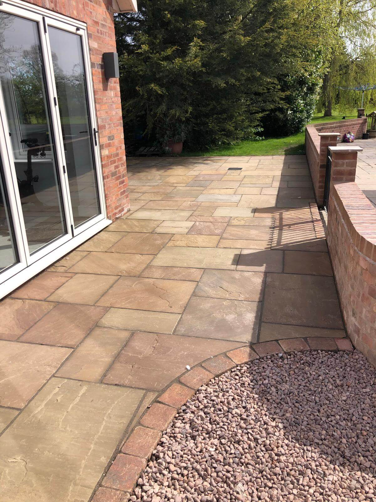 indian stone and aggregate driveway
