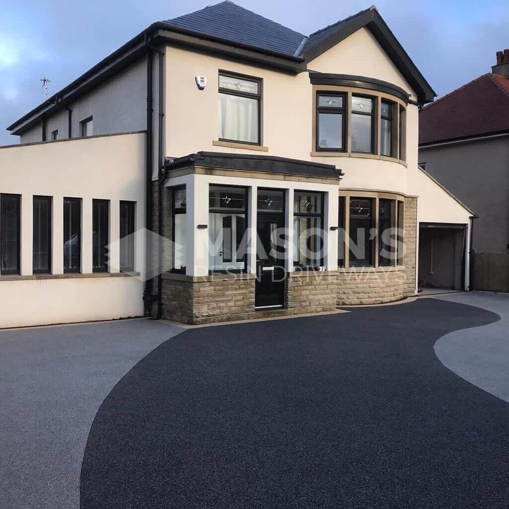 angled view of resin bound driveway