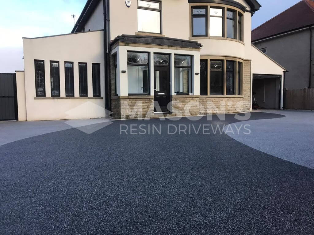 completed resin bound driveway in morecambe